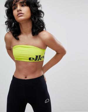Ellesse Бралетт с контрастным логотипом. Цвет: зеленый