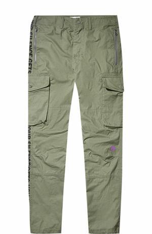 Хлопковые брюки карго  x Slam Jam Cali Thornhill DeWitt Converse. Цвет: оливковый