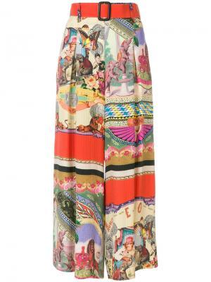 Укороченные расклешенные брюки Etro. Цвет: многоцветный