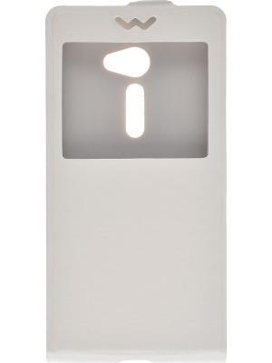 Флип-кейс Asus Zenfone 2 5 skinBOX. Цвет: белый