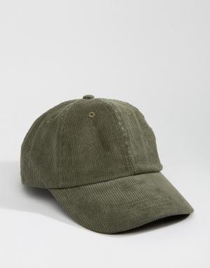 Dead Vintage Вельветовая бейсболка. Цвет: зеленый