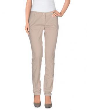 Повседневные брюки UZÈS. Цвет: голубиный серый