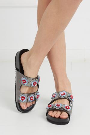 Кожаные сандалии Suecomma Bonnie. Цвет: серебряный