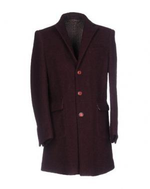 Пальто BARBATI. Цвет: красно-коричневый