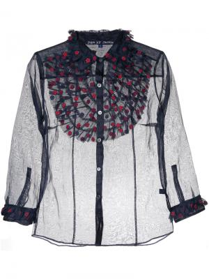 Frill bib shirt Jupe By Jackie. Цвет: синий