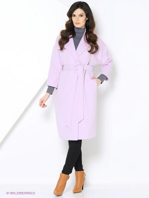 Пальто-oversize RUXARA. Цвет: розовый
