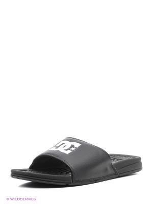 Шлепанцы DC Shoes. Цвет: черный