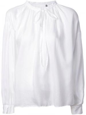 Блузка с завязками Nowos Fabiane Roux. Цвет: белый