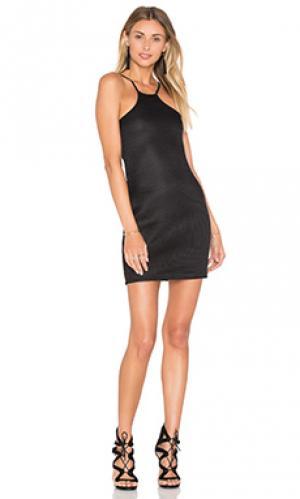 Мини платье mesh BLQ BASIQ. Цвет: черный