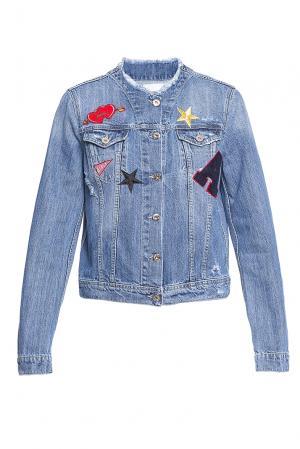 Джинсовая куртка с пайетками 184683 Anna Rita N. Цвет: синий