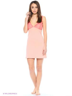 Ночная сорочка Modis. Цвет: розовый, бледно-розовый