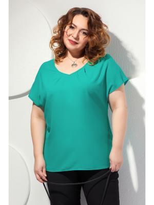 Блузка Modellos. Цвет: зеленый