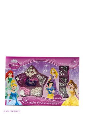 Набор бусин и жемчужин  Disney принцессы, более 200 деталей, подвески Multiart. Цвет: желтый, коричневый
