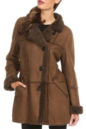 Sheepskin coat Christ. Цвет: chocolate