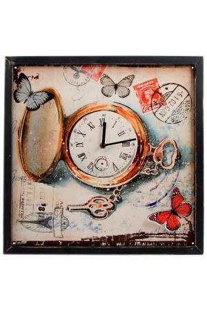 Часы настенные 43x43x2 см Русские подарки. Цвет: белый, красный, черный