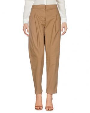 Повседневные брюки IVORIES. Цвет: верблюжий