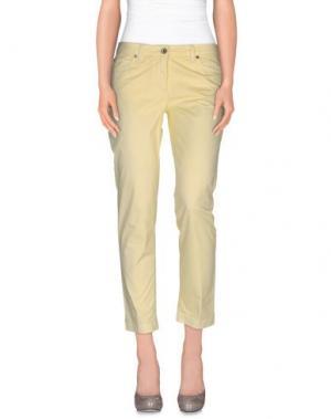 Повседневные брюки HENRY COTTON'S. Цвет: светло-желтый