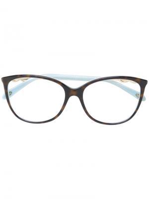 Классические квадратные очки Tiffany & Co.. Цвет: коричневый