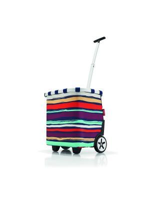 Сумка-тележка Carrycruiser artist stripes Reisenthel. Цвет: синий, бордовый, оранжевый