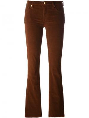 Расклешенные вельветовые брюки 7 For All Mankind. Цвет: коричневый