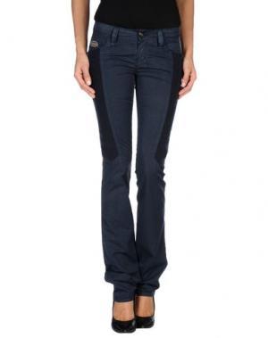 Повседневные брюки CHIRIBIRI. Цвет: темно-синий