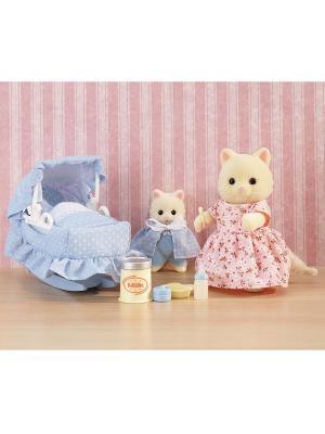 Набор Мама с малышом Sylvanian Families. Цвет: бежевый, розовый, голубой