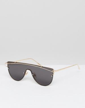Jeepers Peepers Солнцезащитные очки-маска. Цвет: желтый