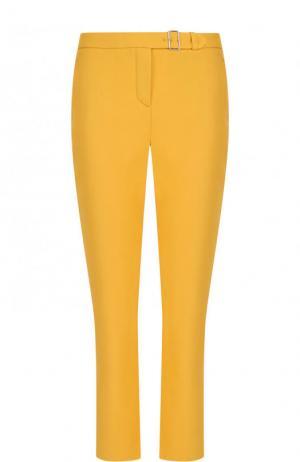 Укороченные хлопковые брюки с карманами Loro Piana. Цвет: желтый