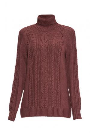 Джемпер из шерсти с шелком 136701 Sweet Sweaters. Цвет: коричневый