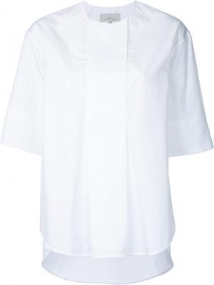 Рубашка с короткими рукавами Studio Nicholson. Цвет: белый