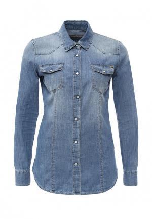 Рубашка джинсовая Gaudi. Цвет: синий