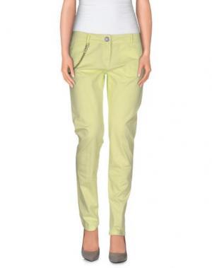 Повседневные брюки MODFITTERS. Цвет: желтый