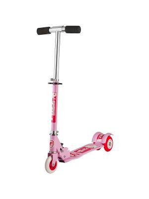 Самокат городской Foxx Smooth Motion сталь PVC колеса 100мм ABEC-7. Цвет: розовый