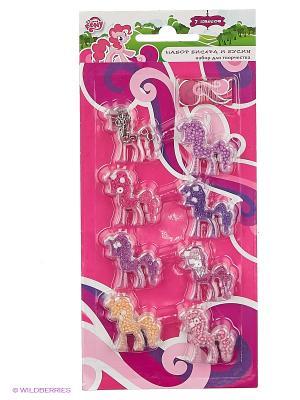 Набор бисера  my little pony различных цветов Multiart. Цвет: фиолетовый, розовый