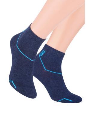 Носки спортивные Steven. Цвет: синий, бирюзовый