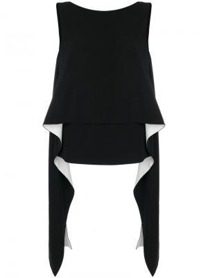 Топ без рукавов с драпировками Givenchy. Цвет: чёрный