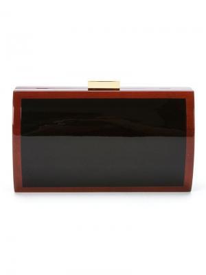 Wood clutch bag Serpui. Цвет: чёрный