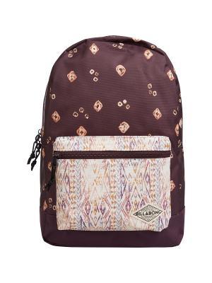 Рюкзак STUDY (FW17) BILLABONG. Цвет: темно-бордовый, бежевый