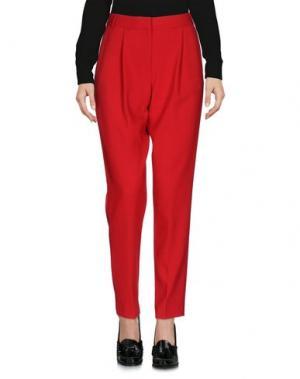 Повседневные брюки FRENCH CONNECTION. Цвет: красный
