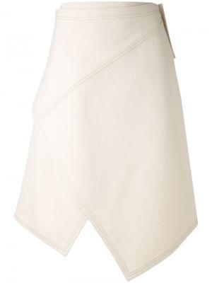 Асимметричная юбка Nehera. Цвет: телесный