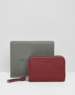 AllSaints Кожаный кошелек. Цвет: красный