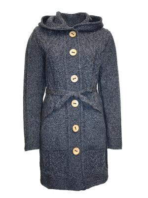 Пальто Milana Style. Цвет: серо-голубой, темно-серый