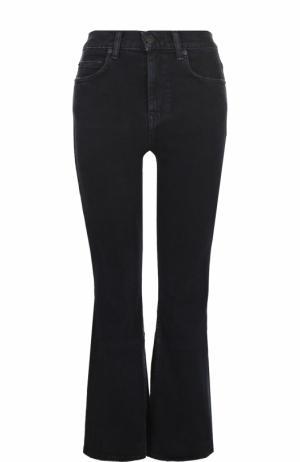 Укороченные расклешенные джинсы с потертостями Proenza Schouler. Цвет: черный