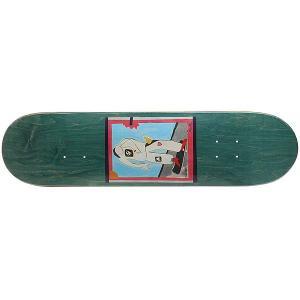 Дека для скейтборда  SSS №1 Green 32 x 8 (20.3 см) Absurd. Цвет: мультиколор,зеленый
