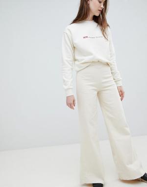 Waven Широкие джинсы Nella. Цвет: кремовый