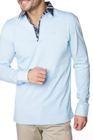 Рубашка-поло GAZOIL. Цвет: голубой