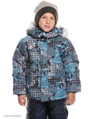Куртка PlayToday. Цвет: темно-серый, голубой