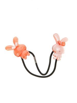 Резинка для волос LITTLE MANIA. Цвет: розовый, оранжевый, черный