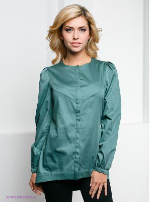Блузка PALLARI. Цвет: темно-зеленый