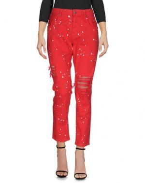 Джинсовые брюки GAëLLE Paris. Цвет: красный